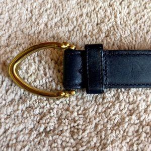 Navy Blue Coach Belt